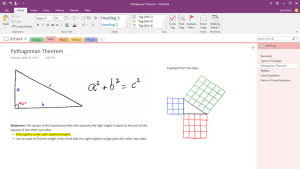 Draw and handwrite notes in OneNote 2016